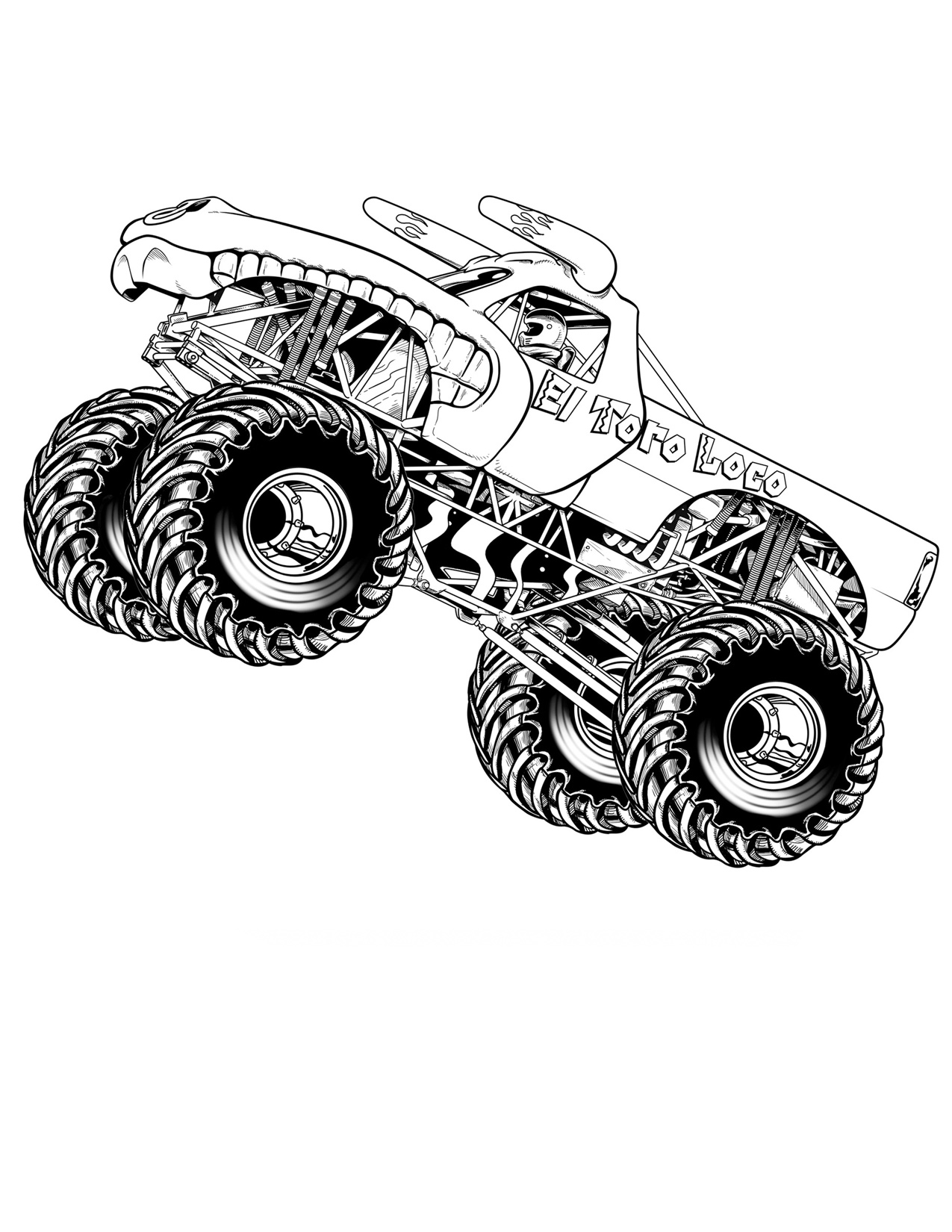 coloring pages of monster trucks 10 wonderful monster truck coloring pages for toddlers trucks coloring pages monster of