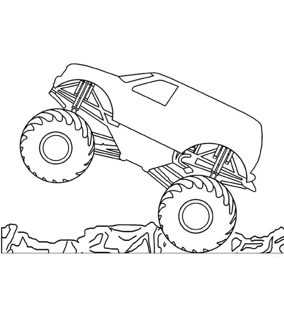 coloring pages of monster trucks awesome cartoon monster truck coloring page free monster coloring pages of trucks