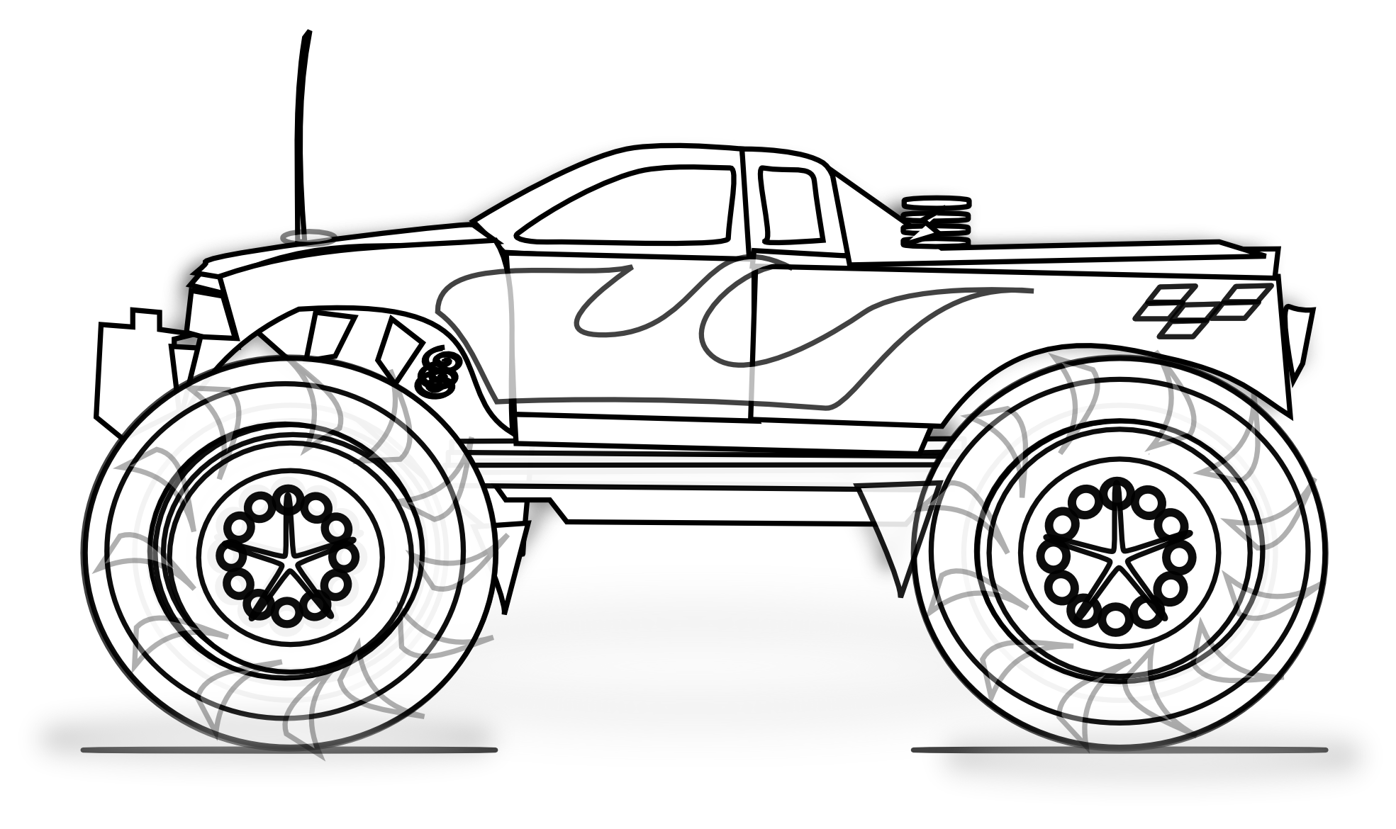 coloring pages of monster trucks blue thunder monster truck coloring page kids play color of trucks coloring pages monster