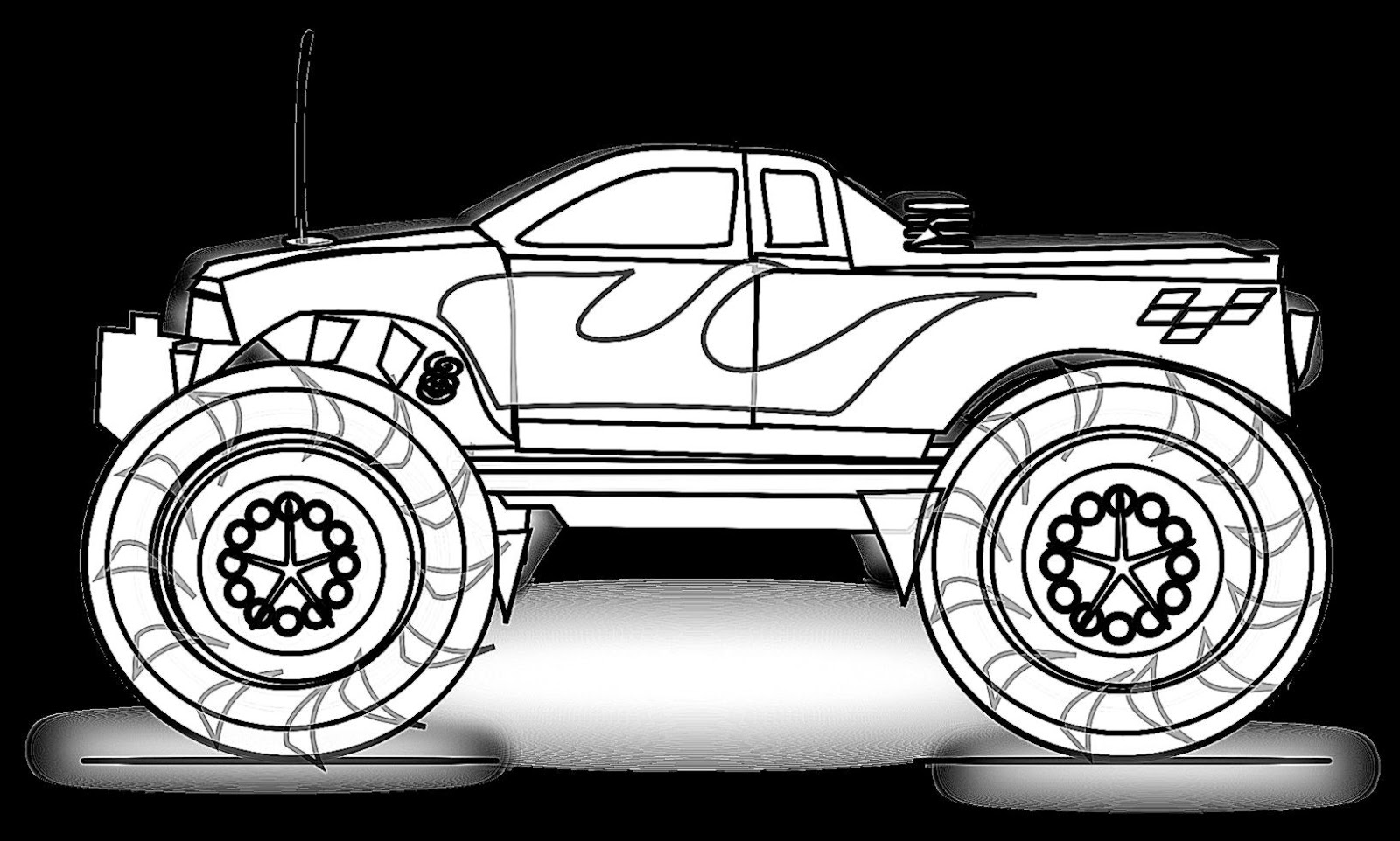 coloring pages of monster trucks how to draw monster jam truck coloring pages color luna of monster pages coloring trucks