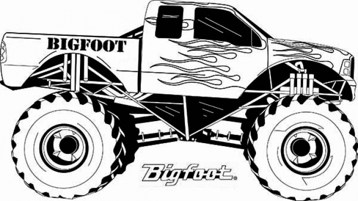 coloring pages of monster trucks monster truck coloring pages for boys free coloring pages coloring trucks pages of monster