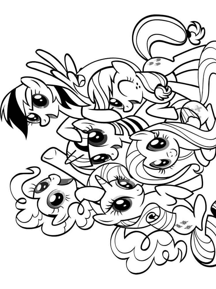 coloring pages of my little pony my little pony coloring coloring pages kidsuki coloring pony little my of pages