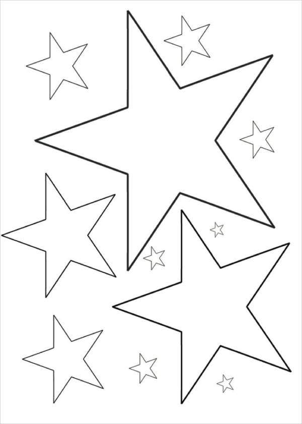 coloring pages of stars 6 star coloring pages free premium templates pages coloring of stars