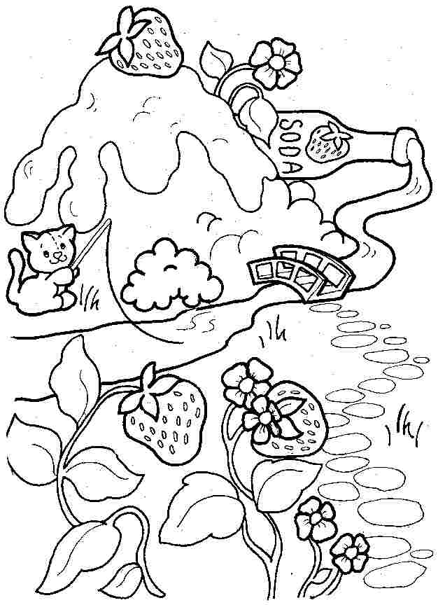 coloring pages of strawberry shortcake and friends printable strawberry shortcake celebrate coloring strawberry and shortcake pages of coloring friends