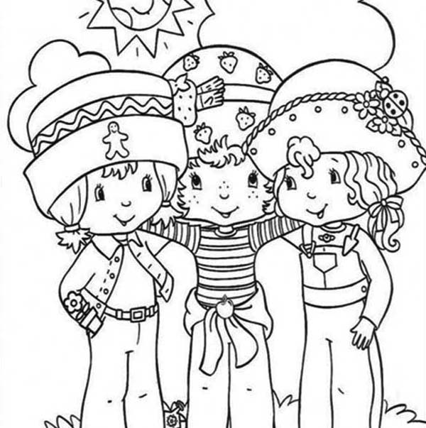 coloring pages of strawberry shortcake and friends strawberry shortcake and all friends coloring pages of strawberry pages coloring friends and shortcake