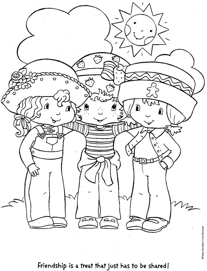 coloring pages of strawberry shortcake and friends strawberry shortcake coloring pages and coloring strawberry pages shortcake friends of
