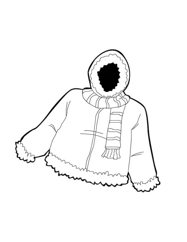 coloring pages of winter coats warm jacket in winter season coloring page coloring sky coats winter pages coloring of