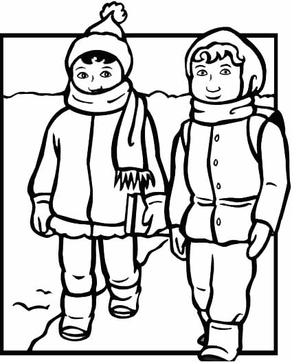coloring pages of winter coats winter coat drawing at getdrawings free download of winter pages coats coloring