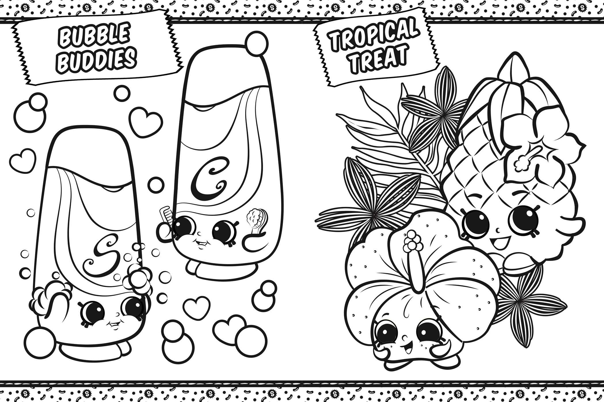 coloring pages shopkins shopkins coloring in shopville book by buzzpop shopkins coloring pages