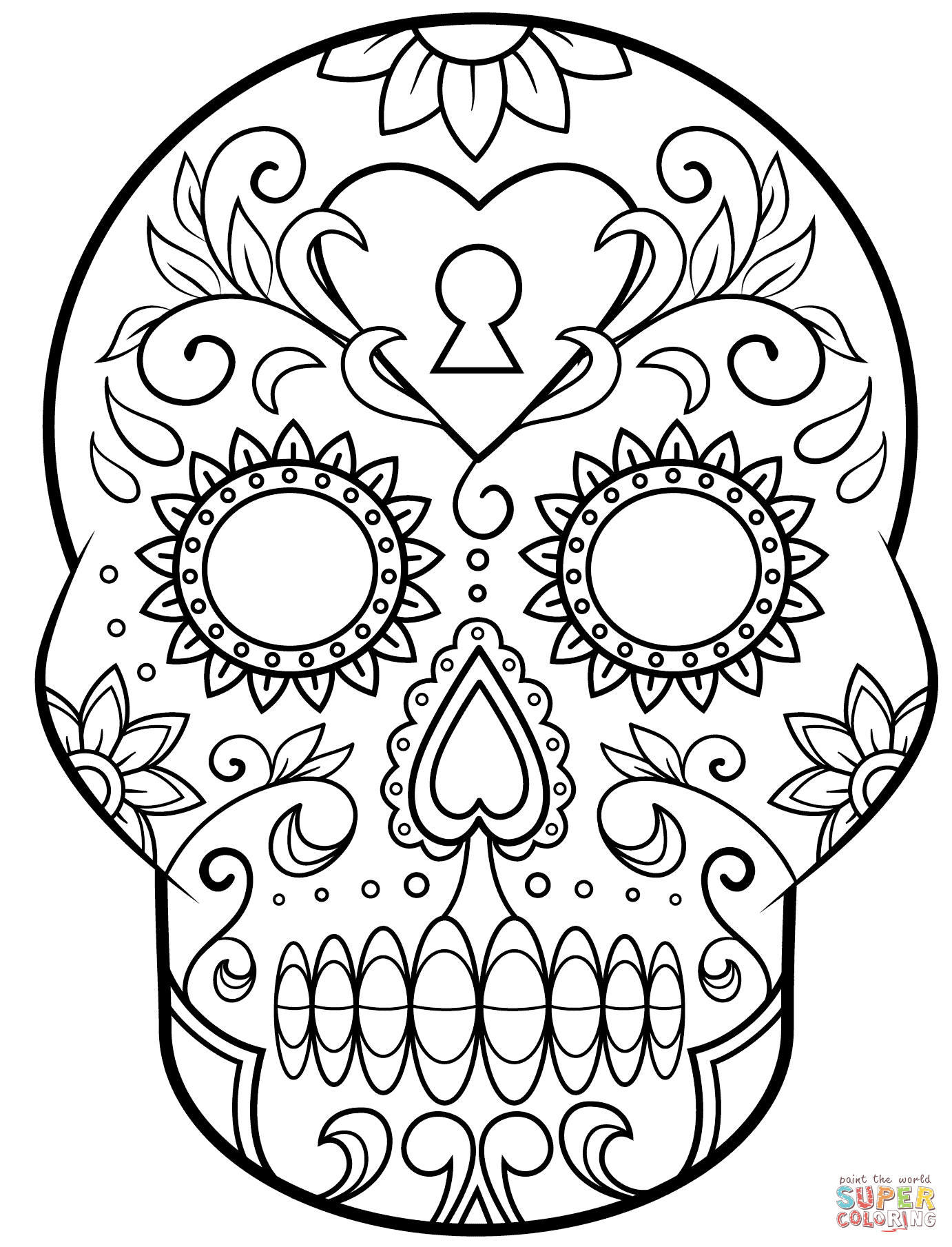 coloring pages sugar skulls day of the dead sugar skull coloring page free printable coloring sugar pages skulls