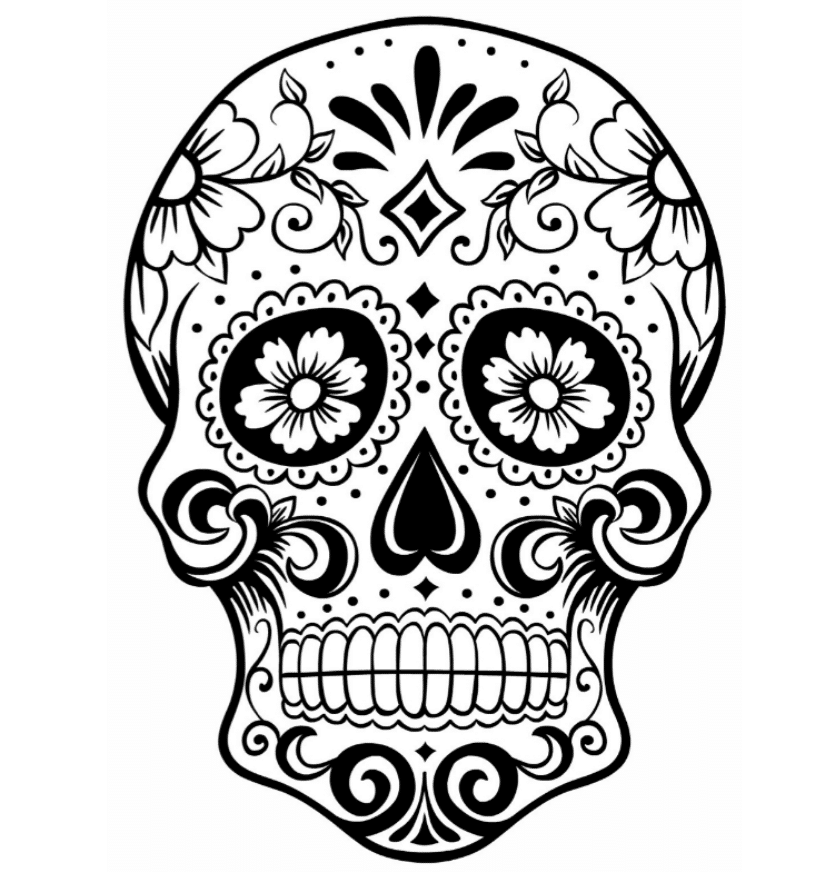 coloring pages sugar skulls print download sugar skull coloring pages to have coloring skulls sugar pages