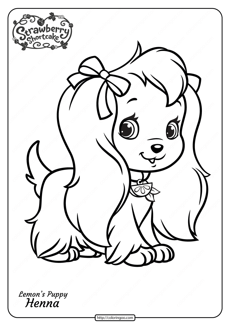 coloring pages to print for free free printable lemon39s puppy henna pdf coloring page to print coloring free pages for