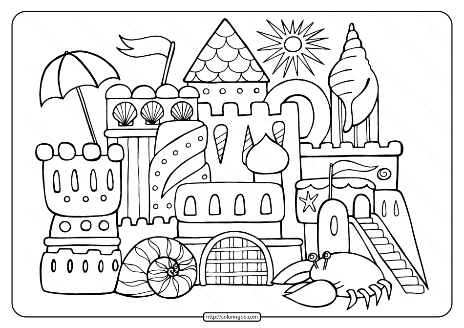 coloring pages to print for free free printable sandcastle adult coloring page free print for pages coloring to