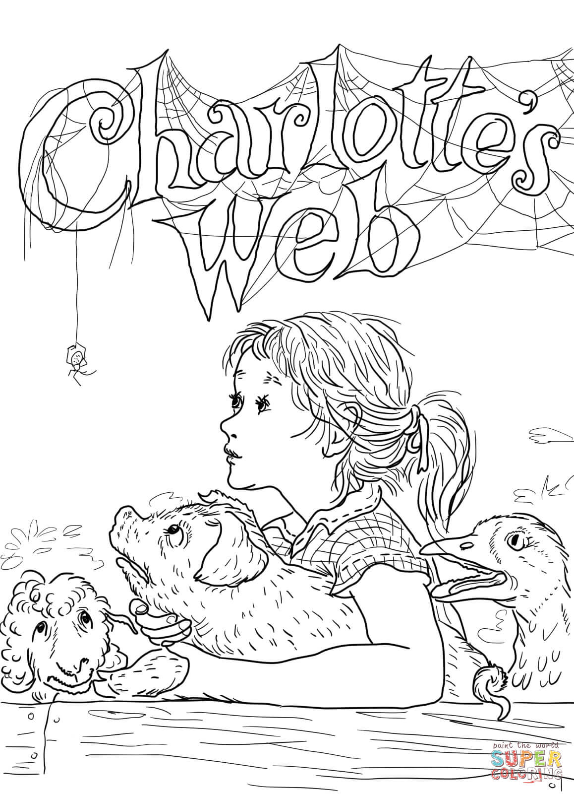 coloring pages websites six cute spider on spider web coloring page netart coloring pages websites