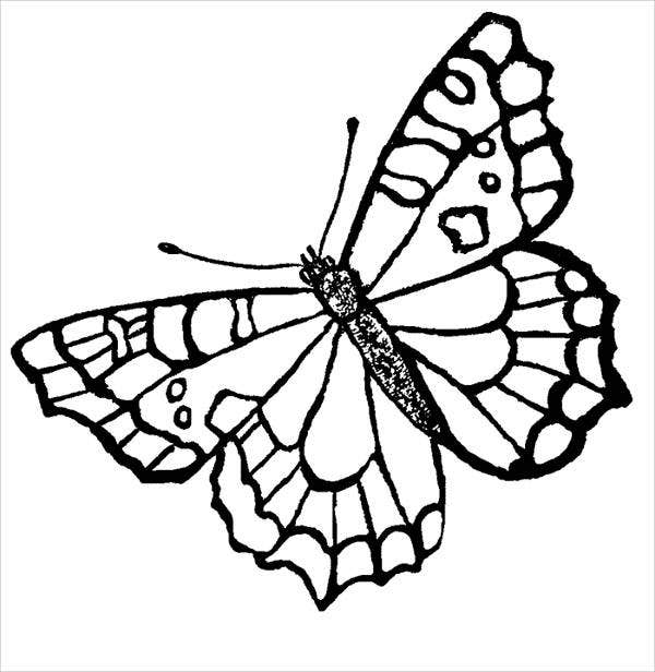 Coloring pages with butterflies