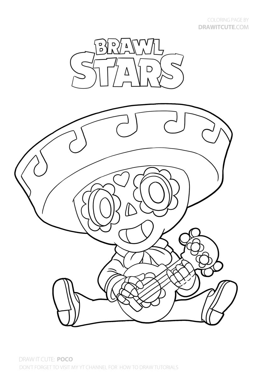 coloring pages with stars how to draw poco super easy with coloring page brawl with stars coloring pages