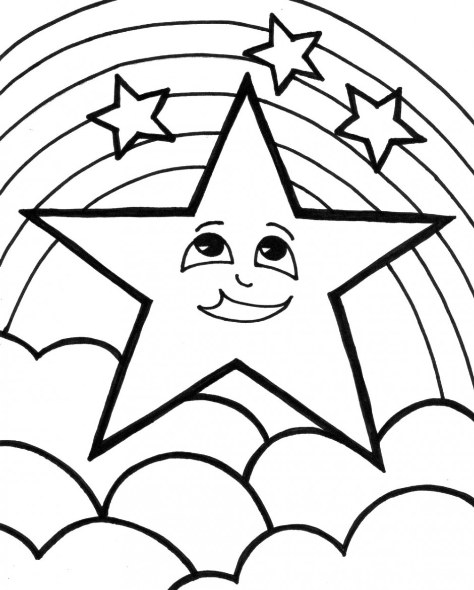 Coloring pages with stars