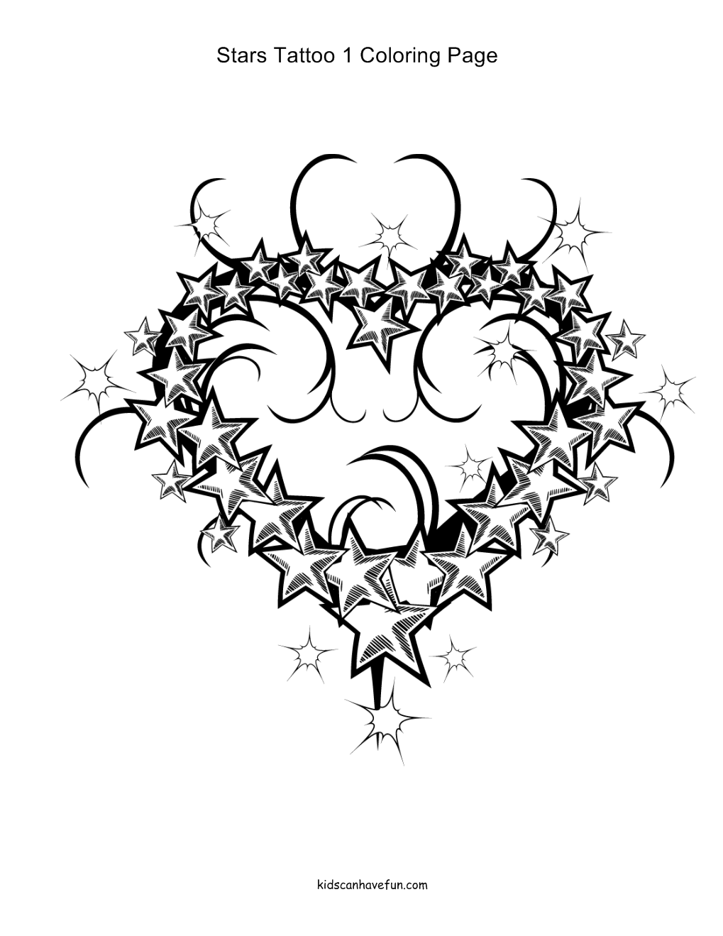 coloring pages with stars tattoo coloring pages animals flowers hearts pages stars with coloring