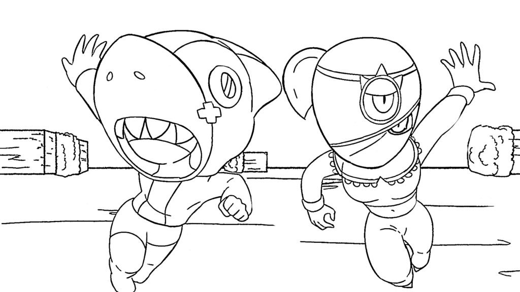 coloring pages with stars ultra driller jacky brawl stars coloring page draw it cute with pages stars coloring