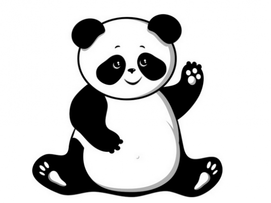 coloring panda clipart black and white china coloring pages to download and print for free black and clipart coloring panda white