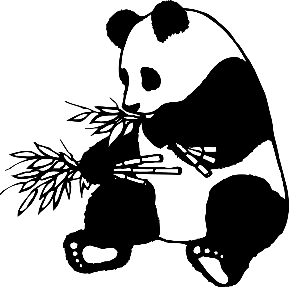 coloring panda clipart black and white giant panda free stock photo illustration of a giant and white clipart black coloring panda