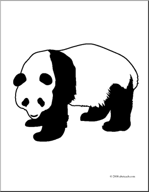 coloring panda clipart black and white panda outline image clipart best coloring panda white black clipart and