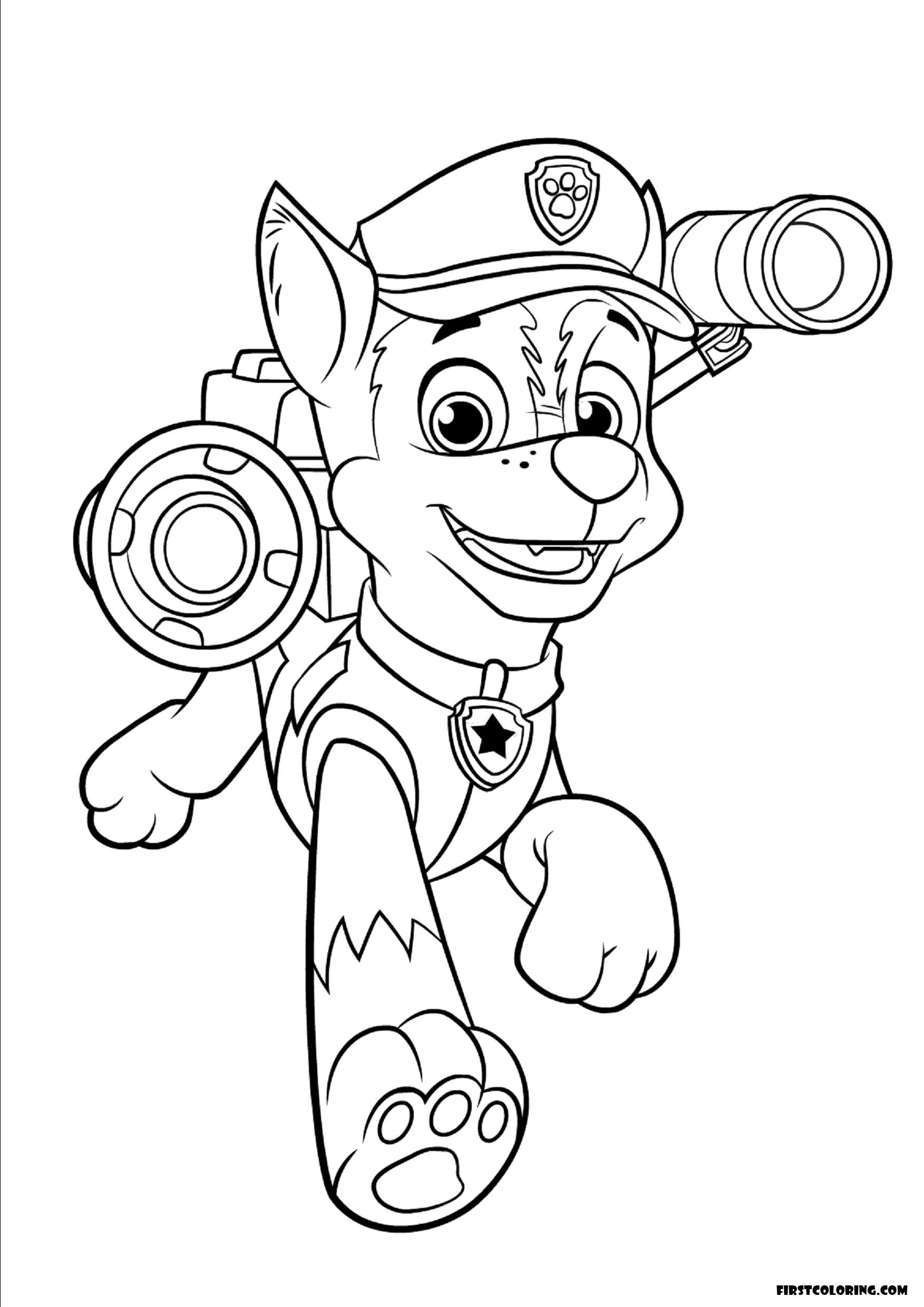 coloring paw patrol lookout paw patrol coloring sheet first coloring for our children coloring lookout paw patrol
