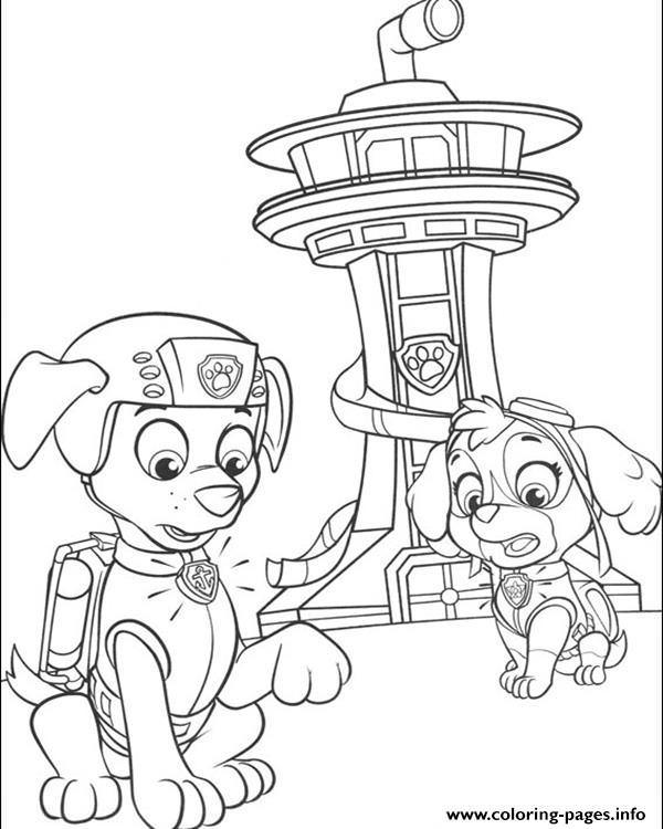 Coloring paw patrol lookout