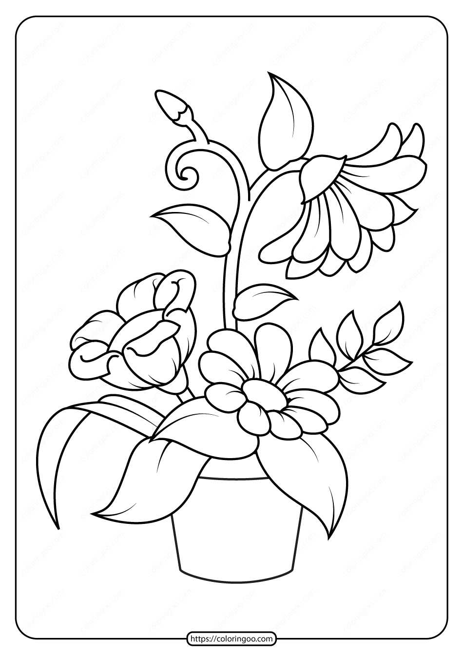 coloring pic of flower 10 flower coloring sheets for girls and boys all esl pic flower coloring of