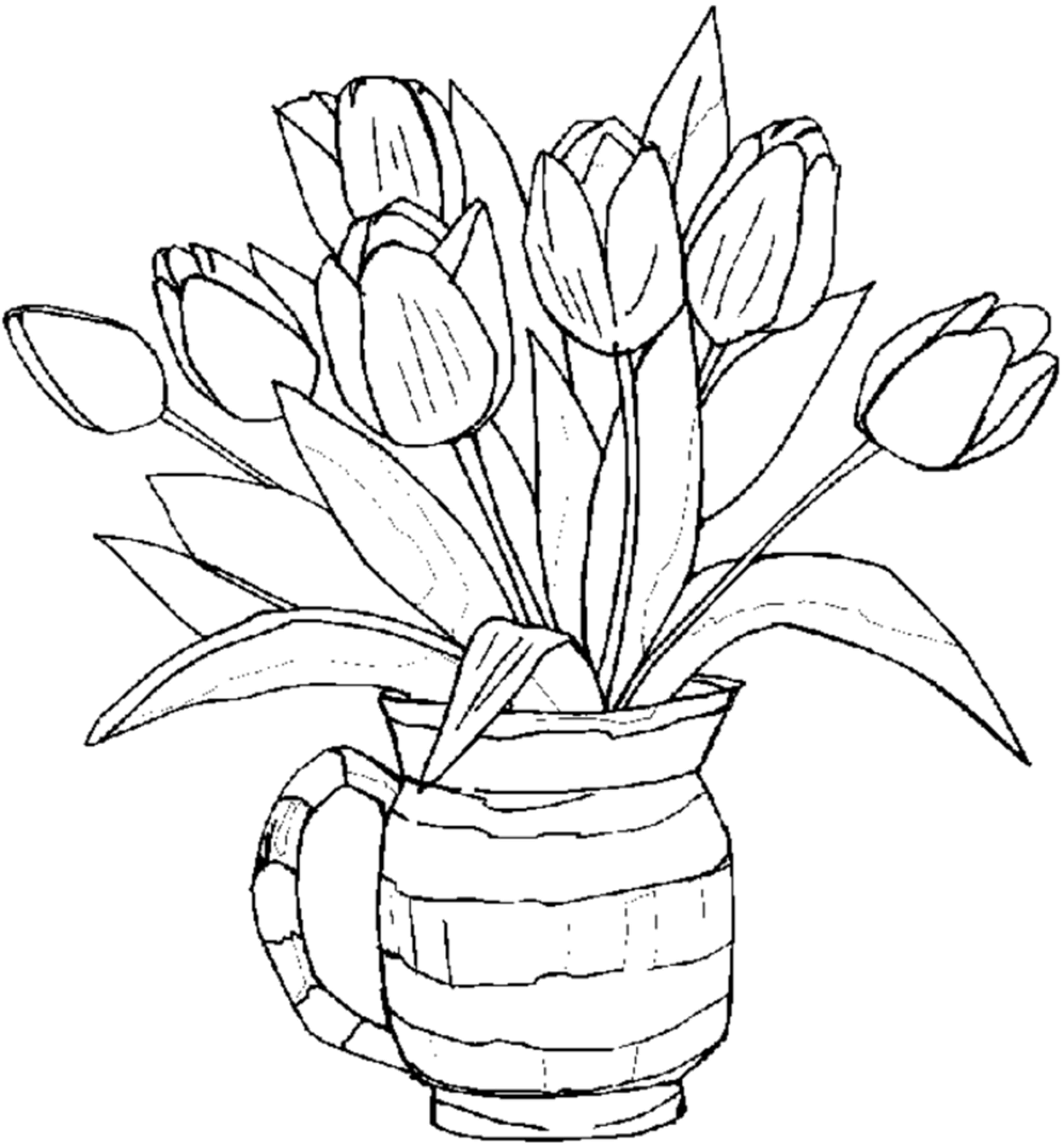 coloring pic of flower free printable flower coloring pages for kids best flower pic of coloring