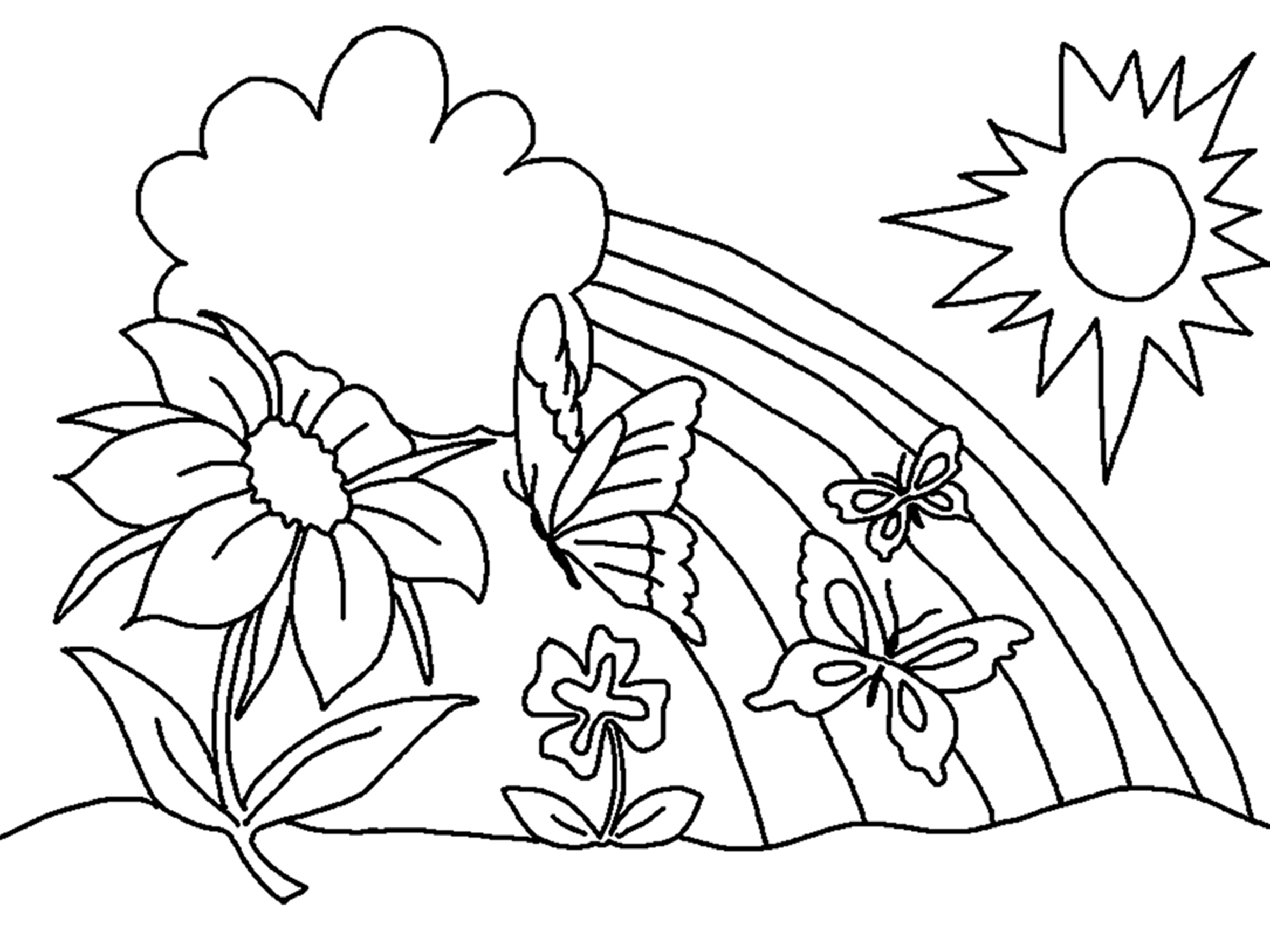 coloring pic of flower free printable flower coloring pages for kids best pic flower of coloring