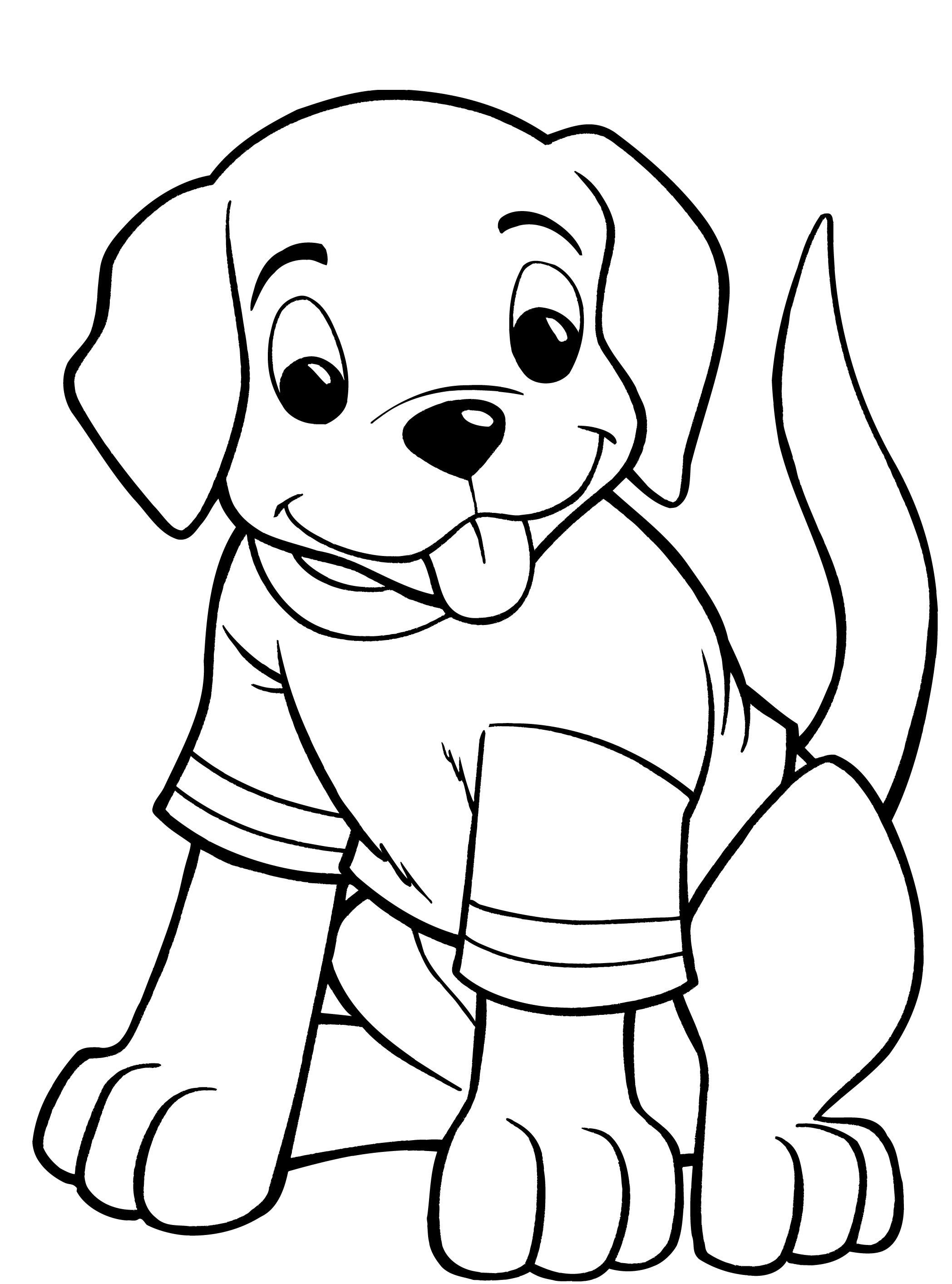 coloring pics of dogs cute dog coloring pages to download and print for free pics of coloring dogs