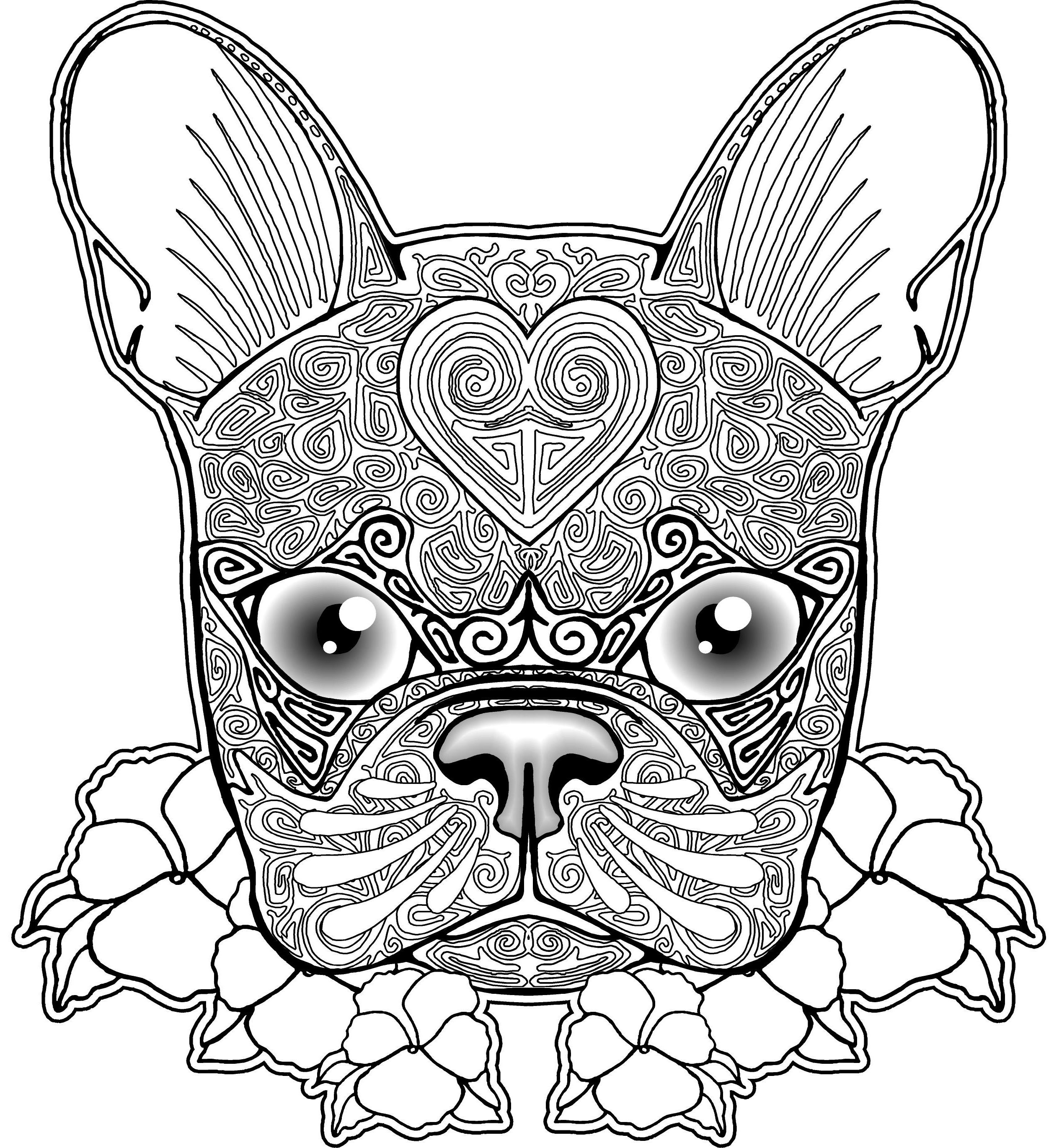 coloring pics of dogs sad puppy coloring pages at getcoloringscom free coloring of pics dogs