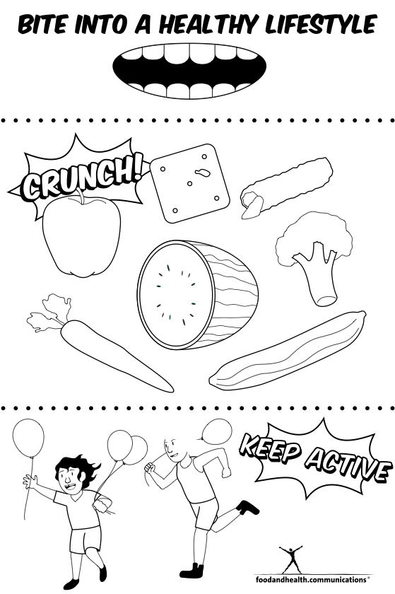 coloring picture for nutrition month enjoy the taste of eating right coloring page two month coloring nutrition picture for