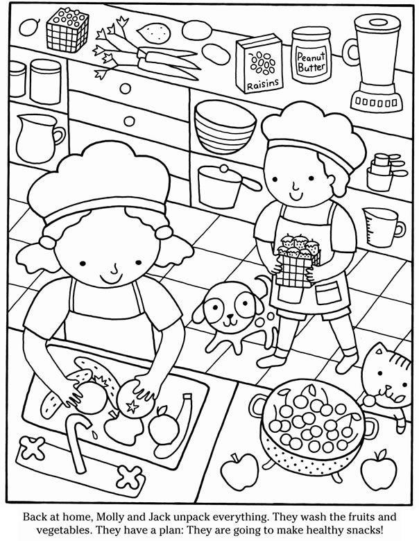 coloring picture for nutrition month kids net art page month for picture nutrition coloring