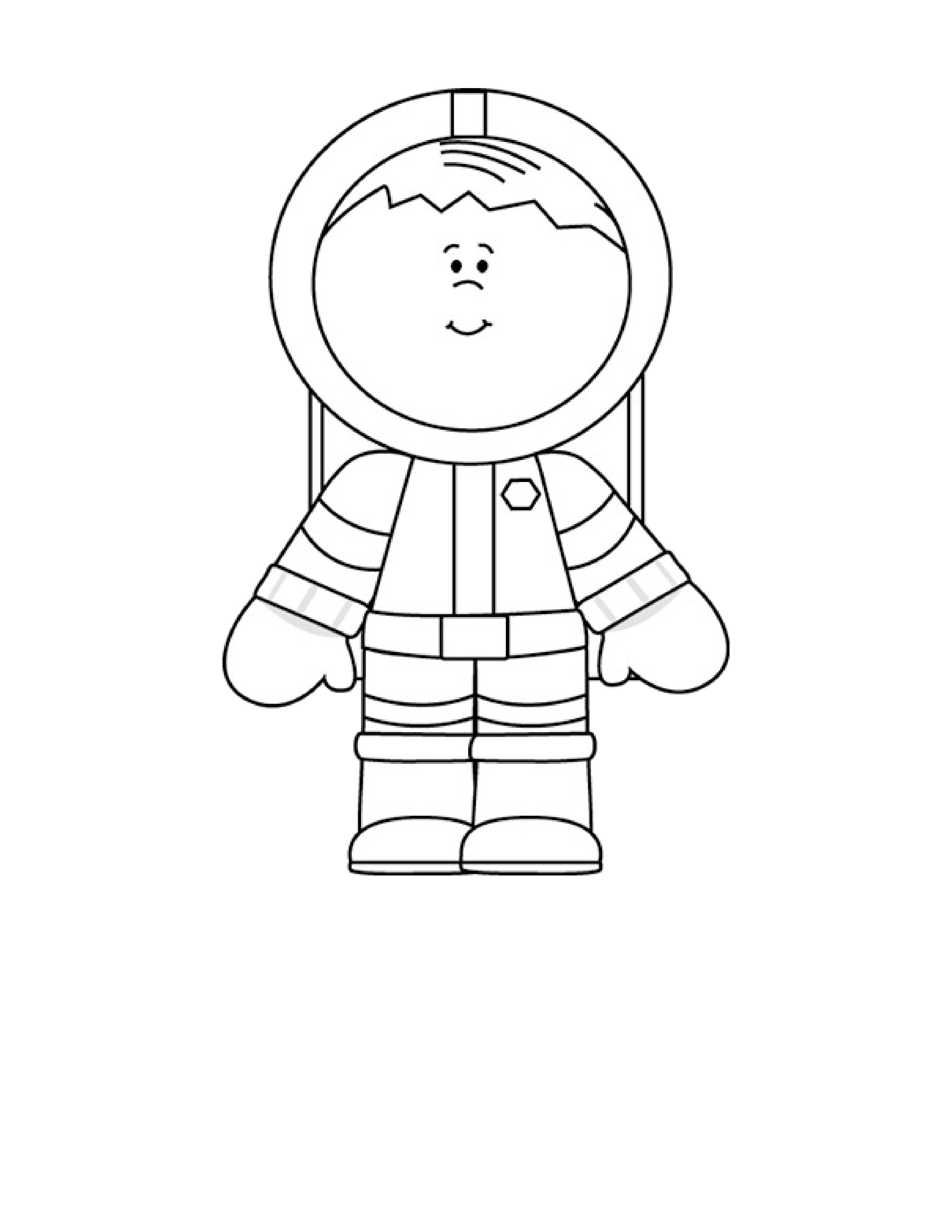 coloring picture of astronaut an astronaut in complete spacesuit coloring page picture astronaut coloring of