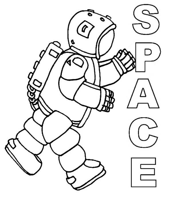 coloring picture of astronaut an astronaut making a salute before going on mission picture astronaut coloring of