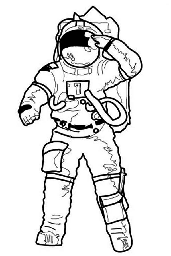 coloring picture of astronaut astronaut in the space coloring pages for kids printable picture astronaut of coloring