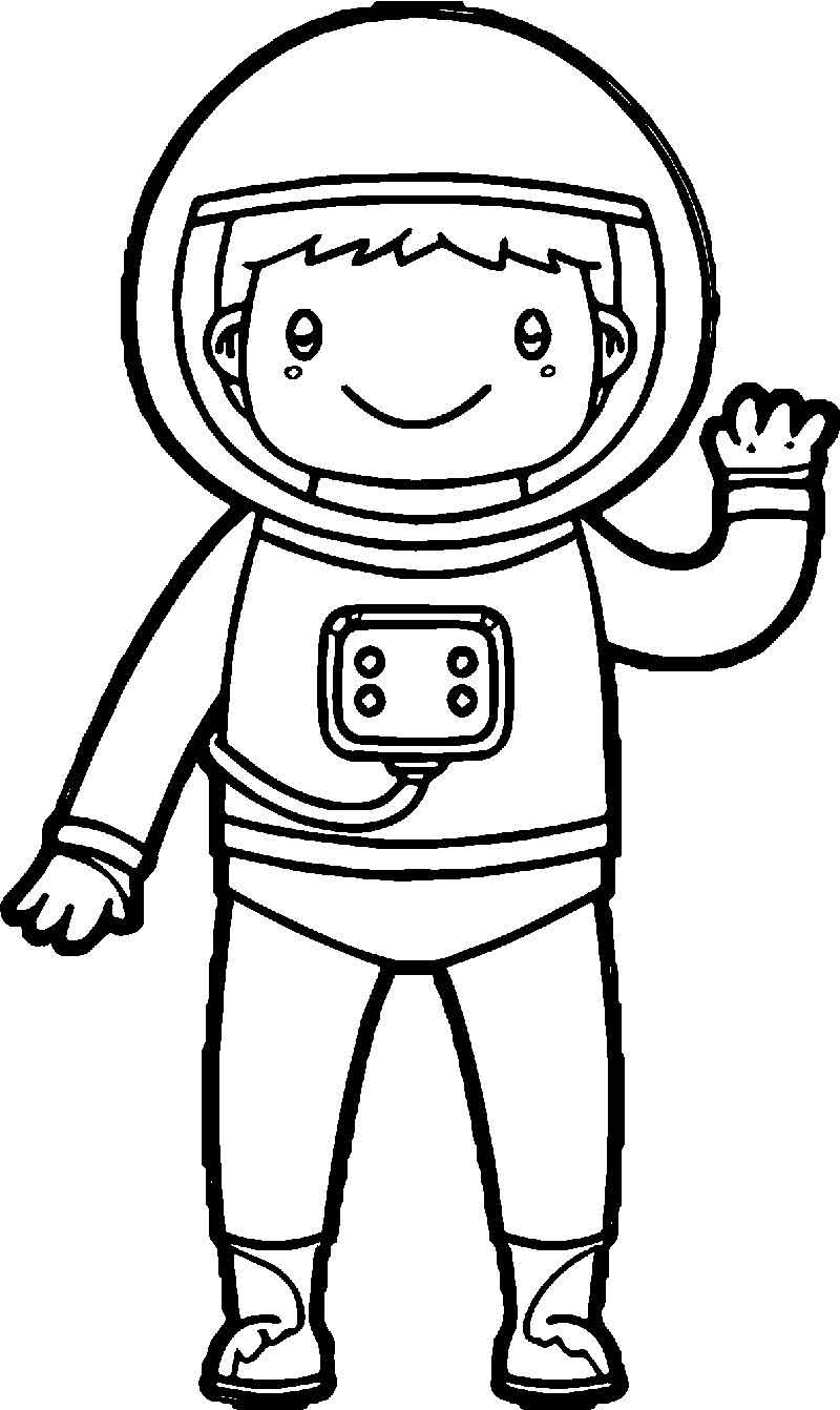 coloring picture of astronaut astronaut line drawing at getdrawings free download astronaut picture coloring of