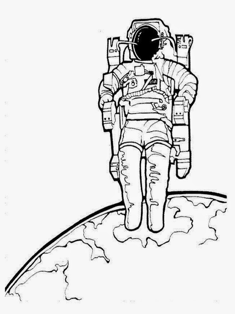 coloring picture of astronaut craftsactvities and worksheets for preschooltoddler and picture coloring astronaut of