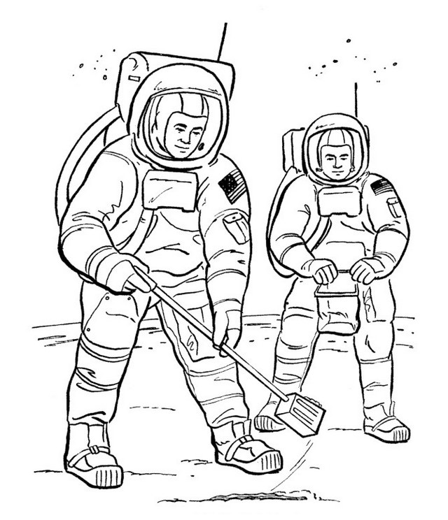 coloring picture of astronaut free printable space astronauts pdf coloring page coloring picture of astronaut