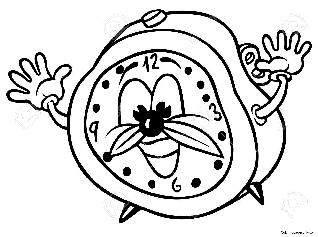 coloring picture of clock antique clock coloring pages best place to color picture clock coloring of