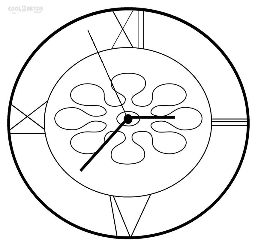 coloring picture of clock clock face coloring page getcoloringpagescom of picture clock coloring