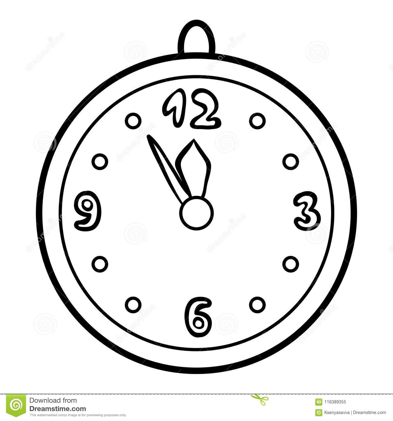 coloring picture of clock coloring book clock stock vector illustration of coloring of clock picture