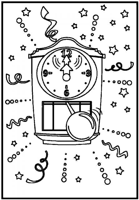 coloring picture of clock cuckoo clock coloring page at getcoloringscom free coloring of clock picture