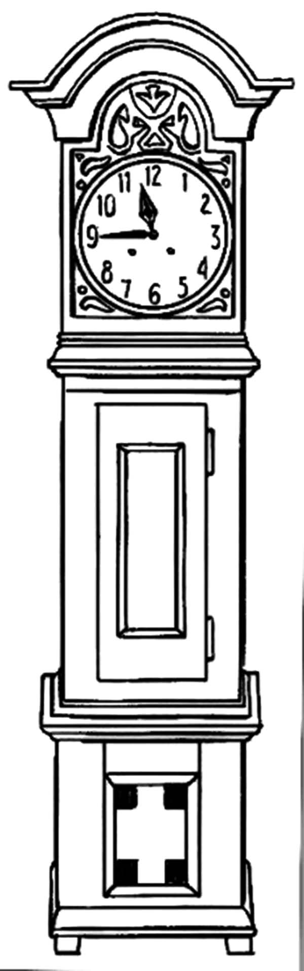 coloring picture of clock floor grandfather clock coloring pages floor grandfather of picture clock coloring