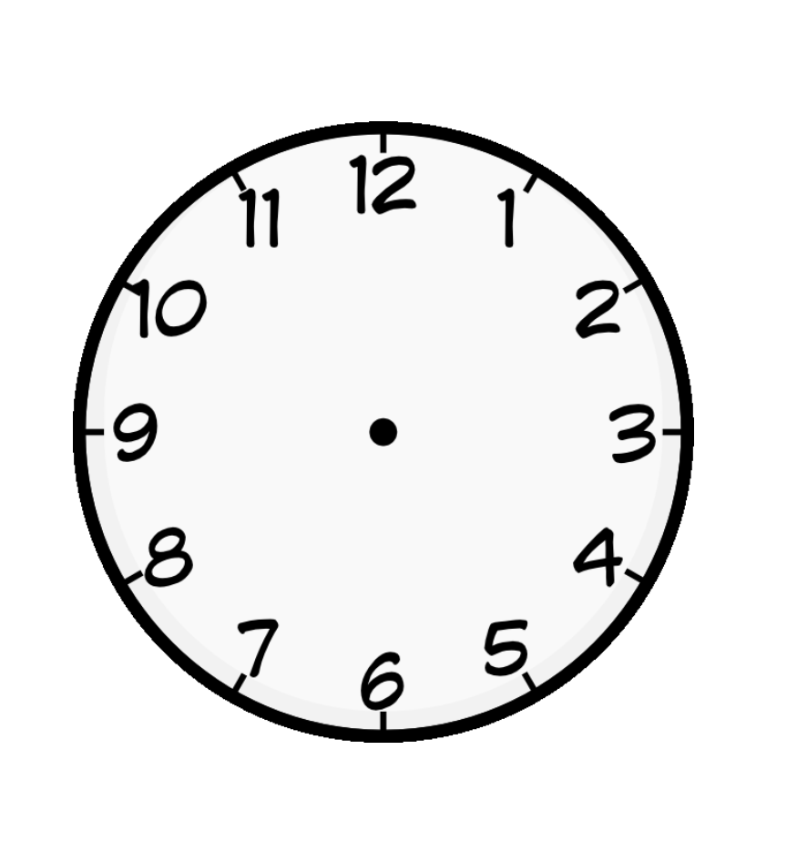 Coloring picture of clock