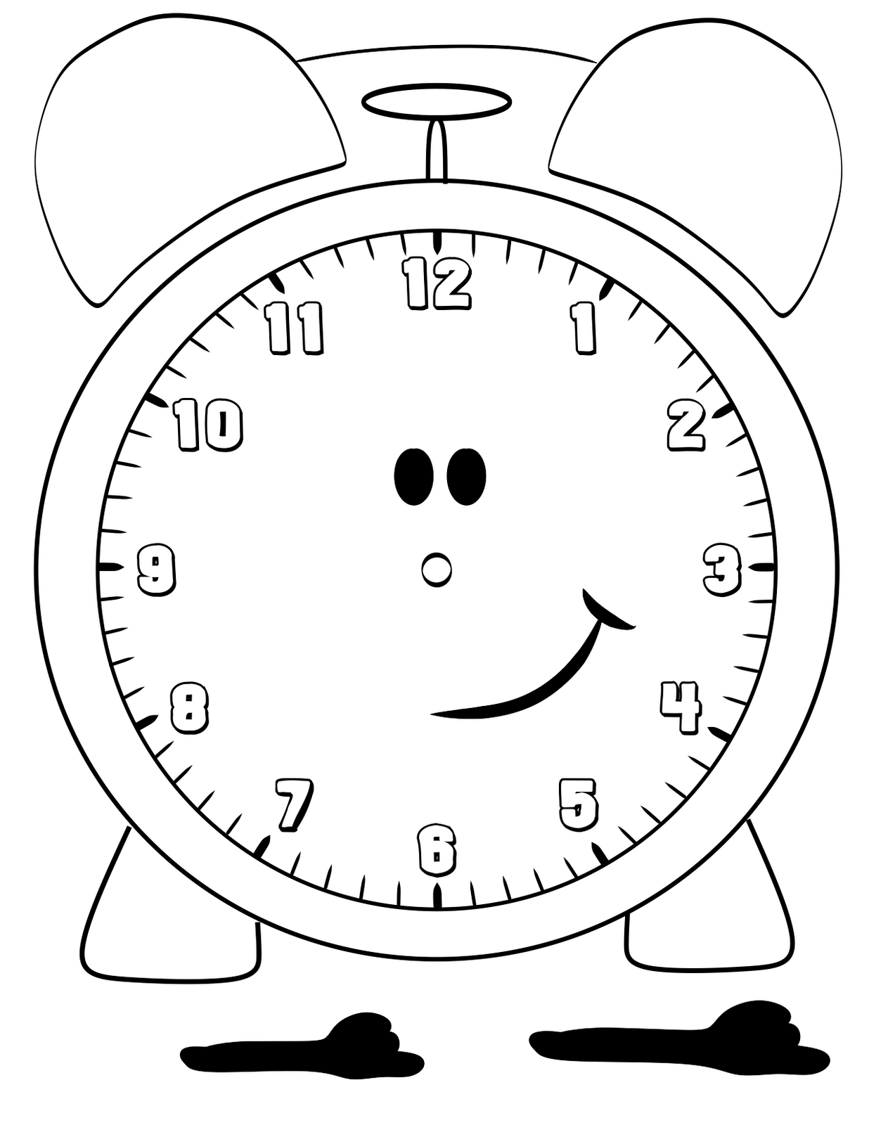 coloring picture of clock free printable clock coloring pages for kids of coloring clock picture