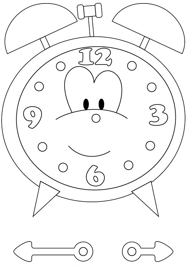 coloring picture of clock free printable clock coloring pages for kids picture clock coloring of