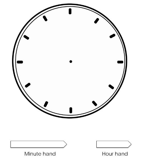 coloring picture of clock printable blank clock face clipart clipartix picture coloring of clock